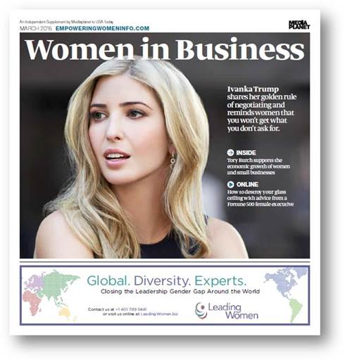 Women in Business US Today Insert Front Cover