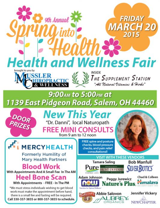 Health and wellness fair, Salem Ohio