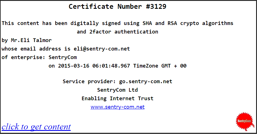 Trust Certificate of the Press Release