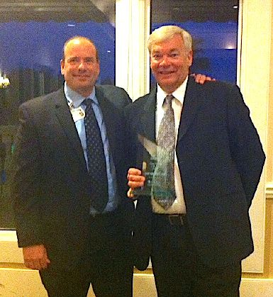"""Ivan Cosimi (left) and Social Worker of the Year Lamar """"Sonny"""" Donaldson."""