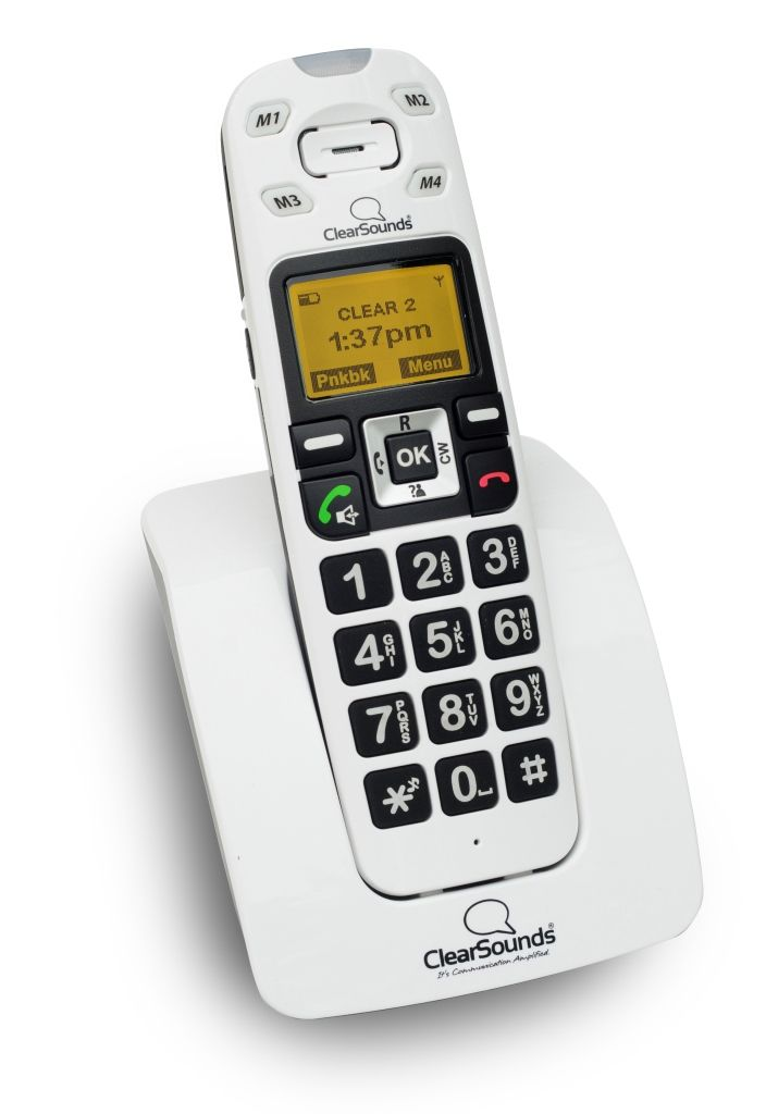 ClearSounds A400 Amplified Talking Cordless Phone Available Through FTRI
