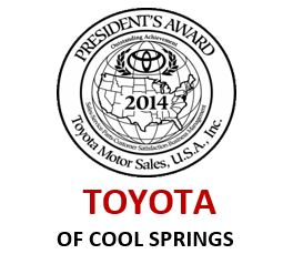Toyota of Cool Springs Receives President's Award