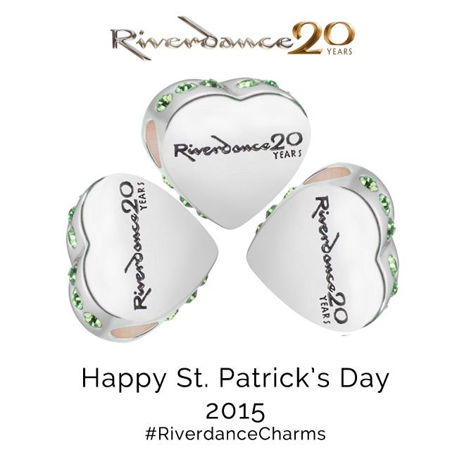LoveRiverdanceHeartCharmBeadPatricksDay2015