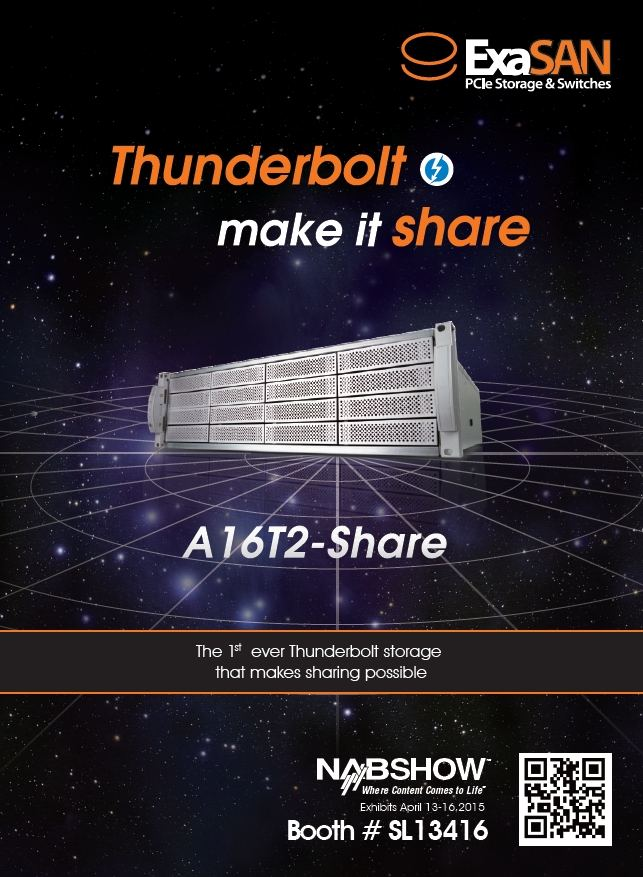 Accusys A16T2-Share @ NAB show SL13416