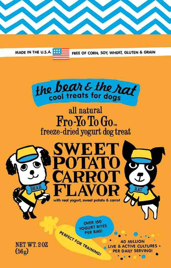 Fro-Yo To Go Sweet Potato Carrot Freeze-Dried Yogurt for Dogs