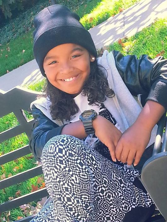 """10 year old rapper and Straight A student Xavier """"Xclusive"""" Bates"""