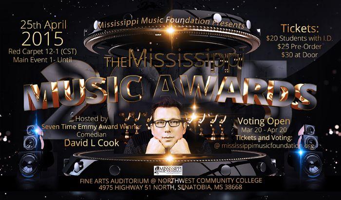 David L Cook to Host 2015 Mississippi Music Awards