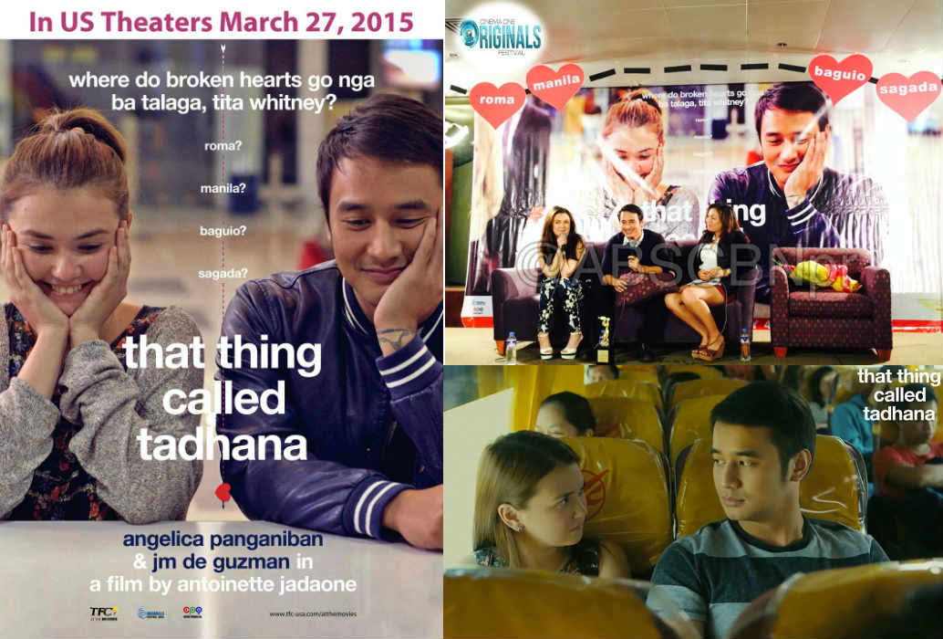 """Catch """"That Thing Called Tadhana"""" in 33 US theaters starting March 27."""