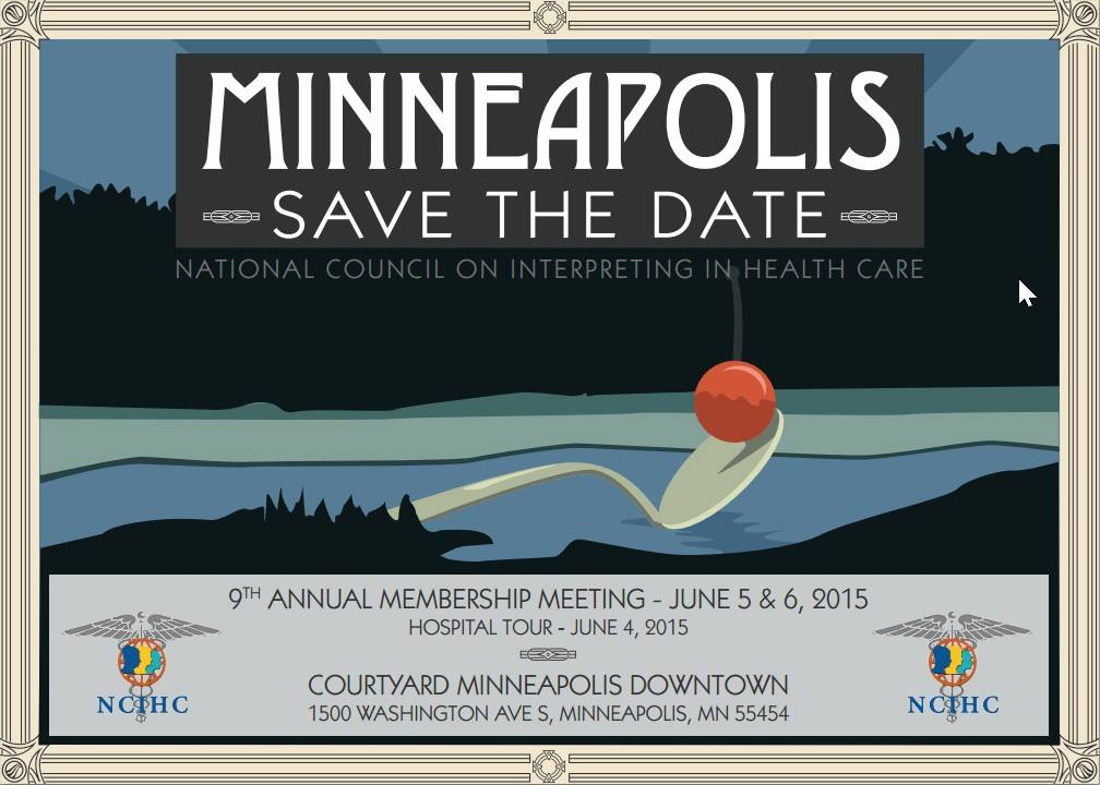 #NCIHC2015 will take place in Minneapolis, MN on June 5 & 6, 2015