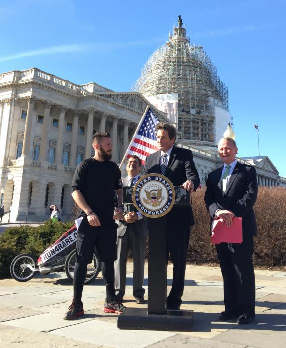 Noah Coughlan's joint Press Conference with Congressional Leaders in D.C.