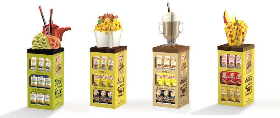 Menasha Packaging Frito-Lay Do Us A Flavor Floor Stands