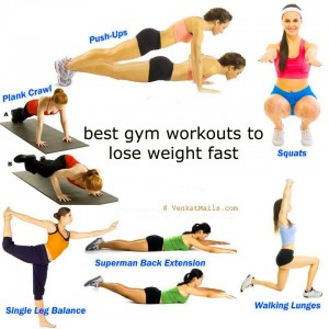 Gym workout to reduce weight