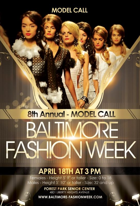 8th Annual Model Call for Baltimore Fashion Week