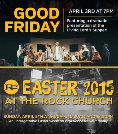 Good Friday & Easter Events at The Rock Church (Monroe)