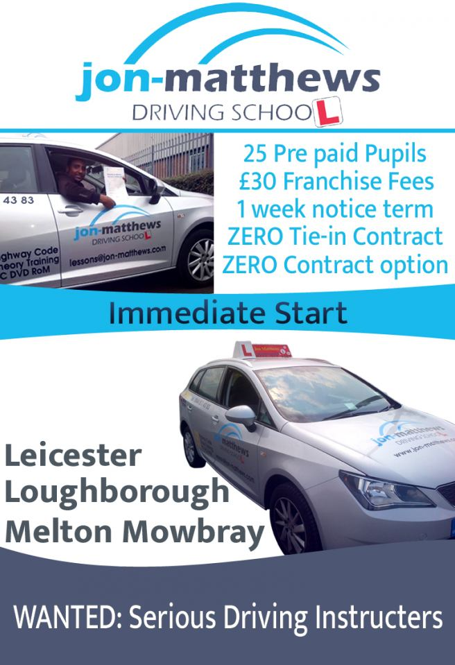 Driving Instructor Job advert