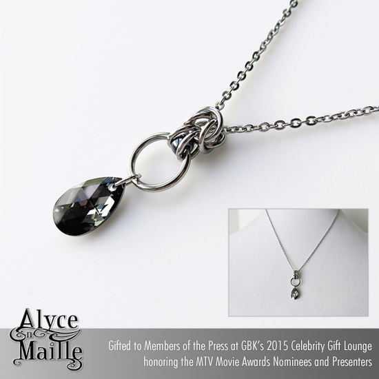 Alyce n Maille Silver Night Pendant