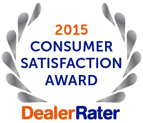 Dealer Rater 2015 Consumer Satisfaction Award