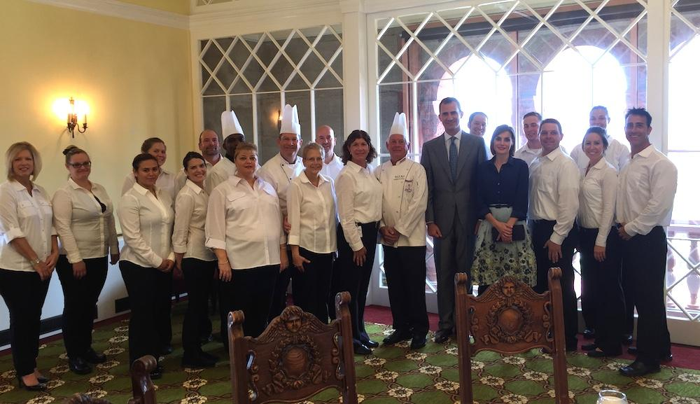 The team at SMA prepared and served the King & Queen of Spain lunch last week.