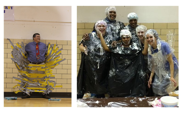 Duct Tape & Teacher & Pie In The Face