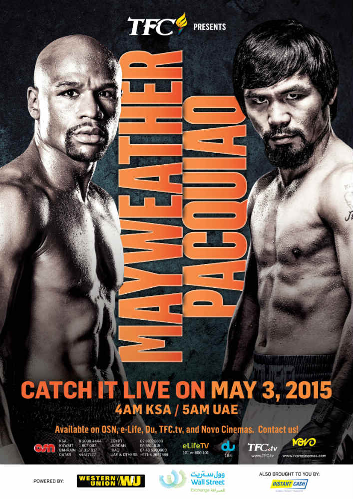 TFC is exclusive distributor of Mayweather-Pacquiao fight in the Middle East.