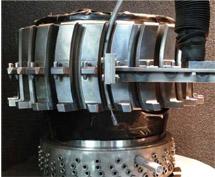 Shot peening on CFM56-7B Fan Disk