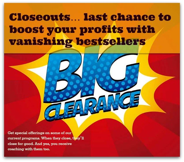 Angela Booth's closeout deals
