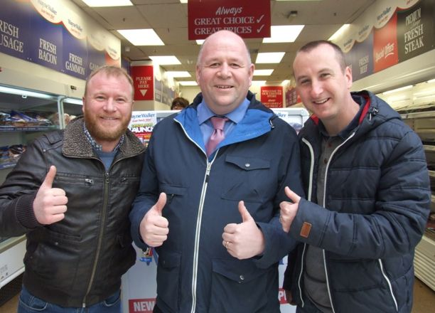 Steven Arnold, Wayne Walker, and Andrew Whyment