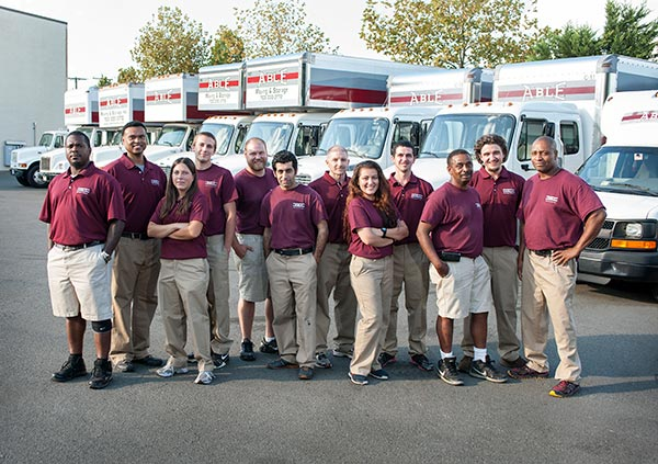 Happy Employees Of National Moving Company