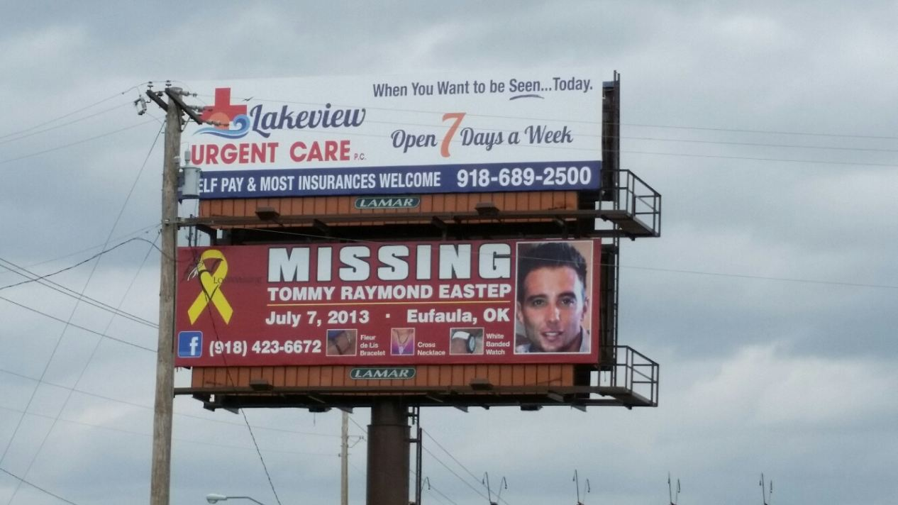 Billboard for Tommy R Eastep, Missing