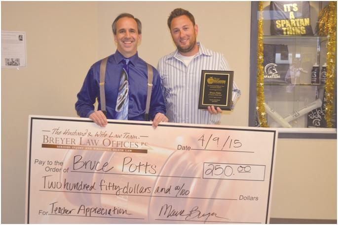 Mark Breyerwith Bruce Potts…April's Winner!