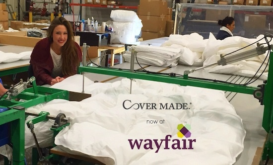 Covermade's bedding line now available on Wayfair.com