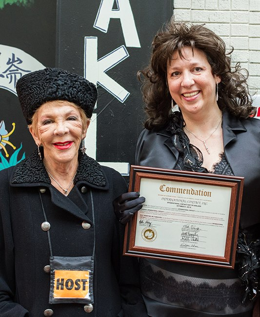Norma & Carla get award from the office of Barbara Lee