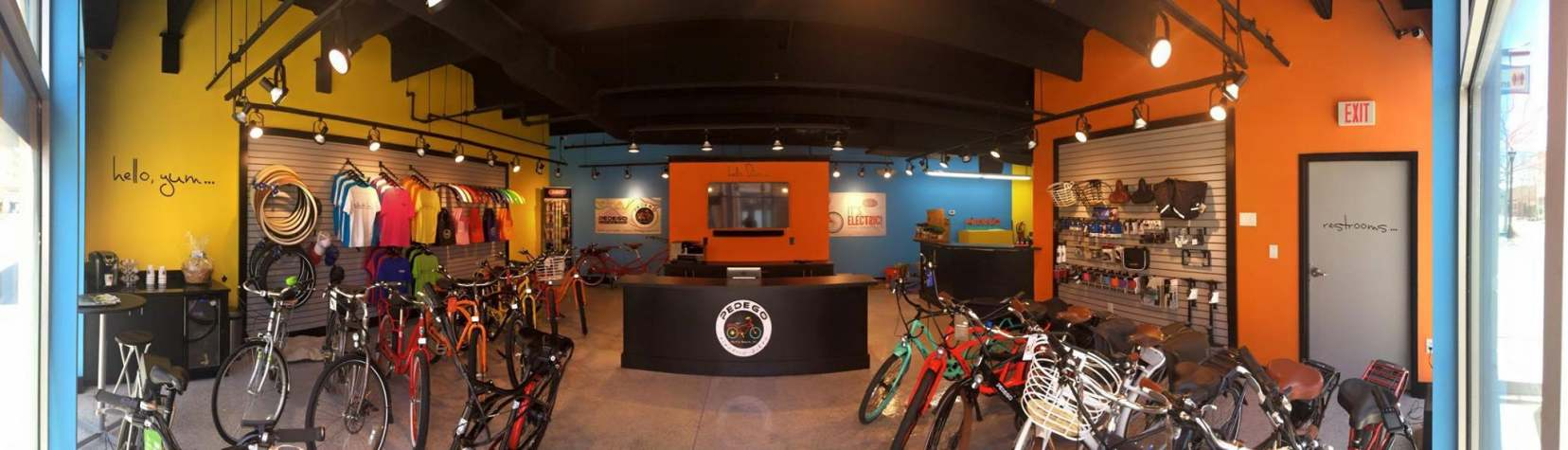 Pedego Myrtle Beach offers a colorful selection of electric bikes.