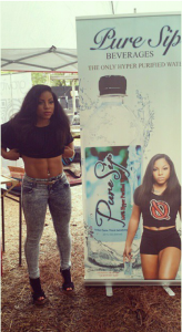 "Santia Deck aka ""Queen of Abs"" at StreetzFest with Pure Sip Water"
