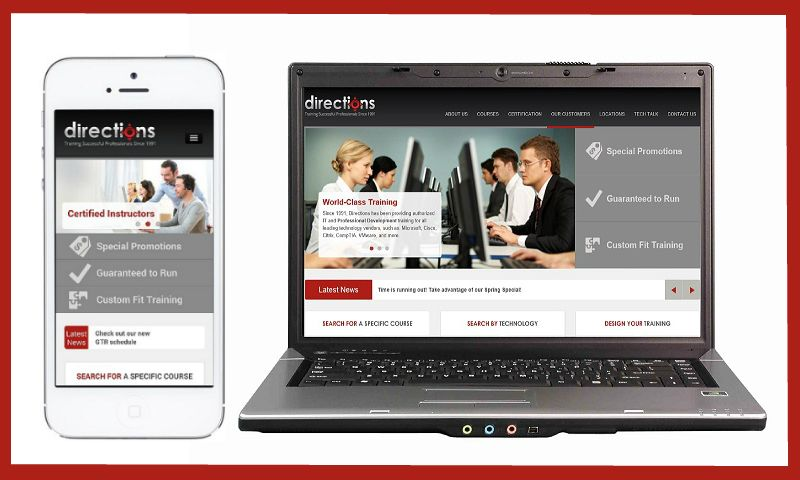 Directions has a newly redesigned ecommerce-equipped, mobile responsive website