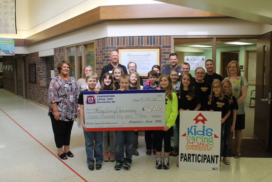 IKORCC presents check to Kingsbury Elementary