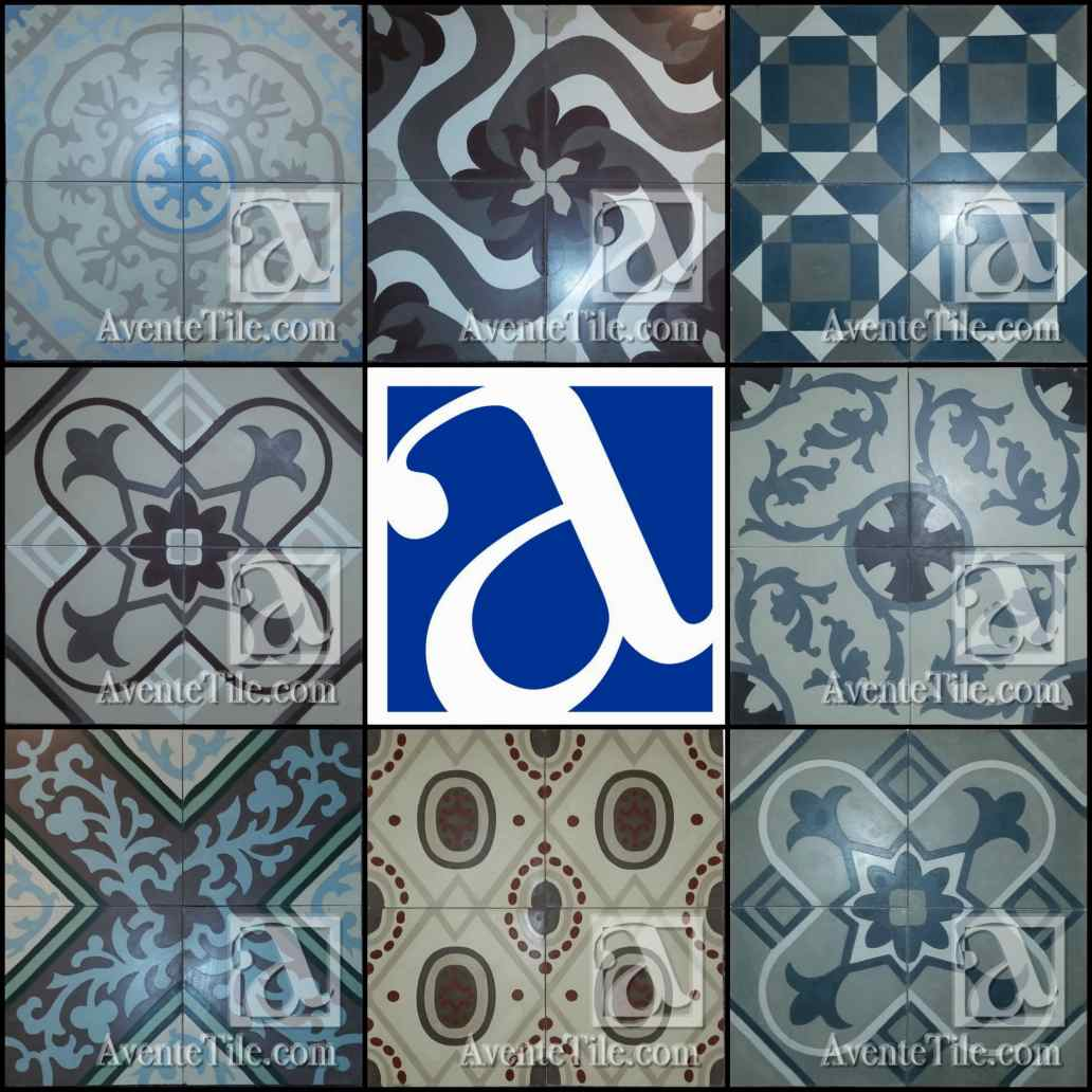 Newly Added Cuban Heritage Cement Tile Colors and Patterns from Avente Tile