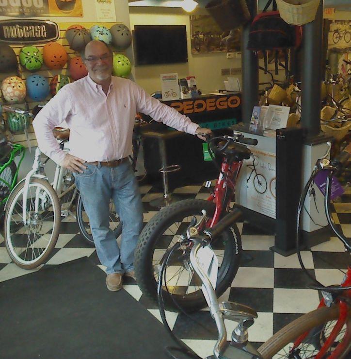 Pedego Rhode Island owner Mark DeStefano shows off his amazing electric bikes.