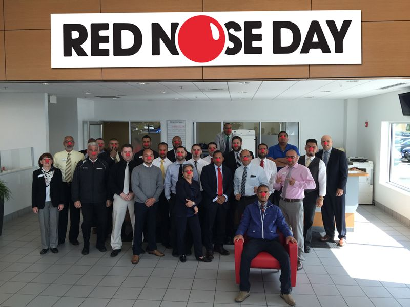 Commonwealth motors participates in national red nose day for Commonwealth motors lawrence mass
