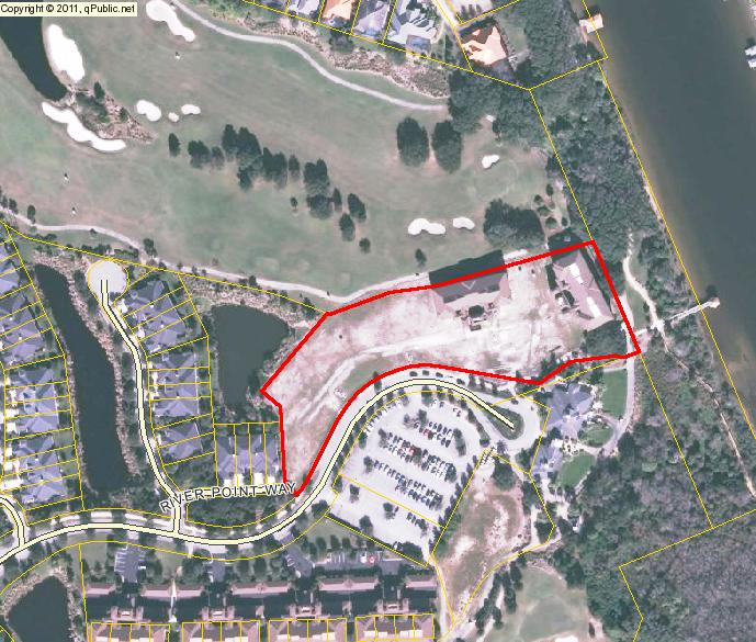 An aerial image of Vista Par Condominiums in Palm Coast, Florida.