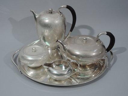 georg jensen coffee tea set antique sterling silve
