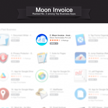 Moon invoice for Mac OSX reaches 2nd position