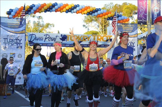 Each Thanksgiving, 11,000 runners flock to the Dana Point Harbor for the Trot