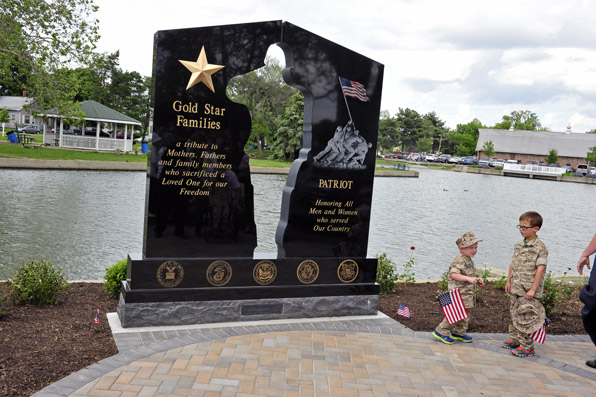Gold Star Family Monument at Columbian Park.