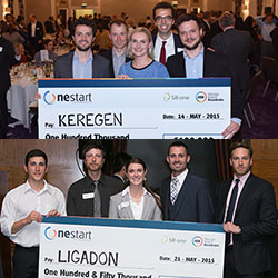 Keregen and Ligadon with OneStart judges Daniel Perez and Matthew Foy