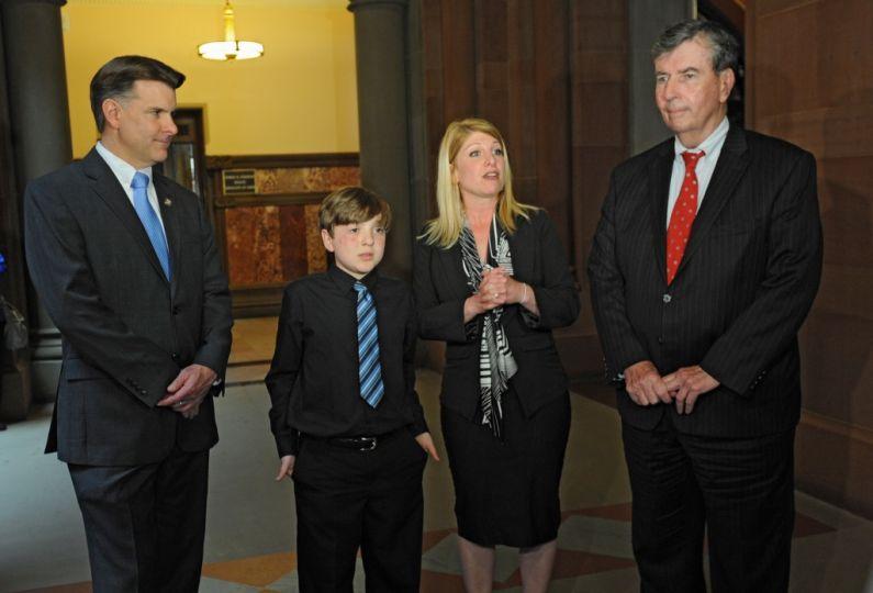 Former Sen. Gipson, Frankie Flora, Maria Flora, Sen. Breslin (D) 2014