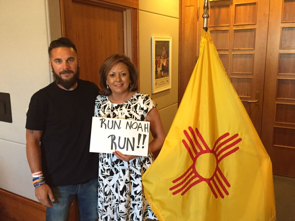 Coughlan with New Mexico Governor Martinez at State Capitol in Santa Fe, NM