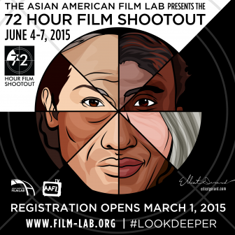 The 72 Hour Shootout Logo, credit:  Elliot Gerard, artist