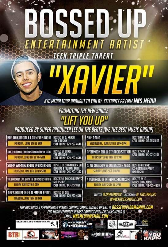 Xavier Official Tour Flyer