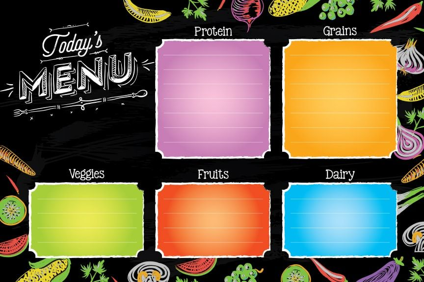 'School Menu Today' for Digital Menu Boards and Myplate Dry Erase Boards